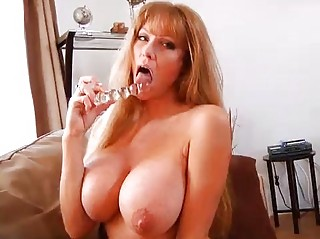 cougar bigtit redhaired lady