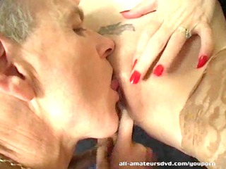 older  european young couple –  lady