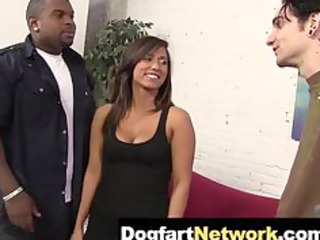 cuckold watches his woman gang bang a brown libido