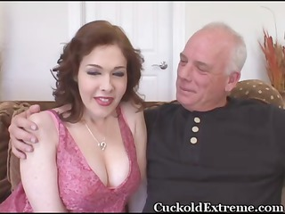 milky colorless busty woman takes plump with a
