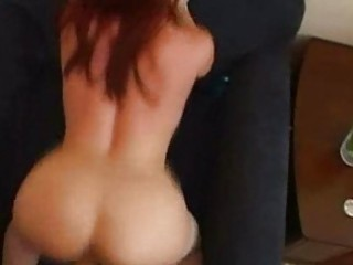 redhaired mom enjoys doggystyle!