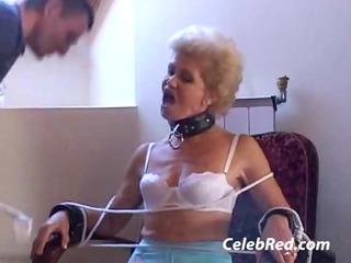 elderly obtains it white cream dildo twin