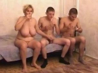 naughty grownup milf with two men