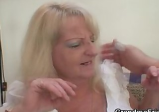 drunk blonde granny in hawt threesome fuckfest