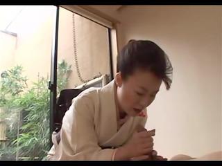 japanese aged gives filled geisha treatment