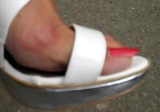 older feet in high heels