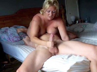 goldenhaired giant tited wife rocked