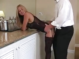 underwear blond milf.... does she make him cum?