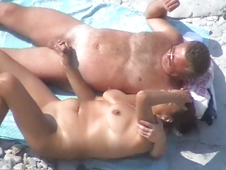 various sweet older  duo on the shore