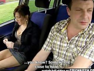 czech lady hooker banged in car
