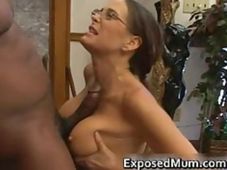 hot woman in glasses deepthroating black part4