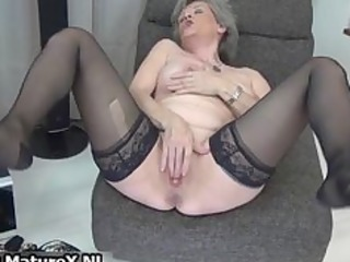 sexy elderly inside black nylons loves part5