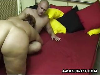 heavy inexperienced woman licks and copulates at