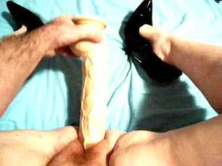 wife drilling giant libido in 6 inch highheels 3