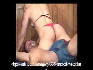 great interracial wrestling action at