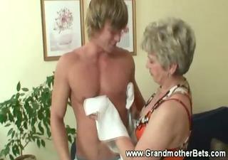 granny seducing younger schlong