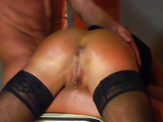 german inexperienced lady spanked and fisted by