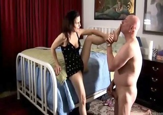 sexy aged foot fuck and oral stimulation