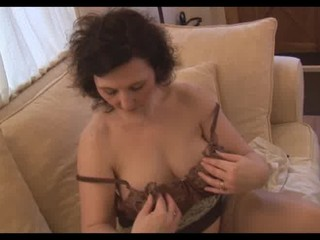 horny older  lady panty play and striptease