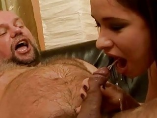 grandpa piercing and pissing on horny chick