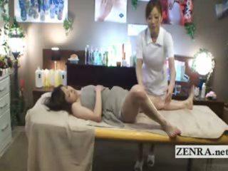 subtitled perky japanese milf spread dike massage