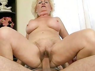 busty grandma enjoying nasty porn