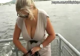 hot mother i flashes her super large tits and