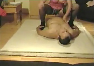 aged woman having sex with her spouse in stockings