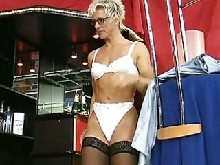 german milf undresses