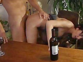 drunken cougar hoes licking dick