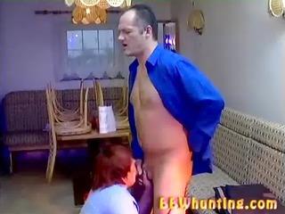 chubby grownup giving hot blowjob