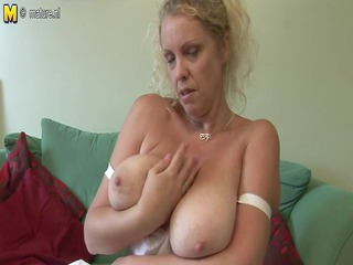big titted american mother shows off awesome rack