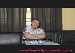femaleagent. cheeky casting receives dominated