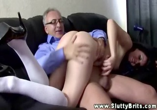youthful sweetheart gets spanked by an old chap
