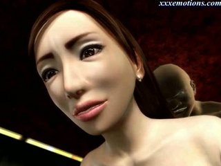 desperate animated woman with nylons obtains