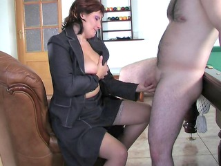 russian mom viola fucks young male