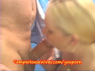 inexperienced lady wife licks cum into bath