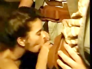 horny cowboys take her oral by surprise