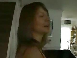 grownup brunette does softcore porn inside dark