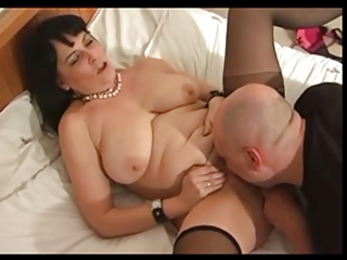 heavy older  inside pantyhose gangbangs with bald