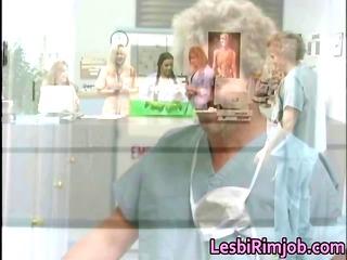 horny homosexual woman nurses bottom rimming free