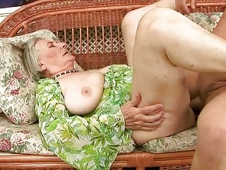 enormously granny elderly obtains pierced uneasy