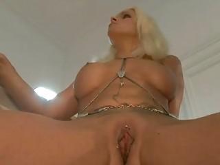 gorgeous german lady inside openair