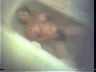 my furry mum caught dildoing inside bathroom