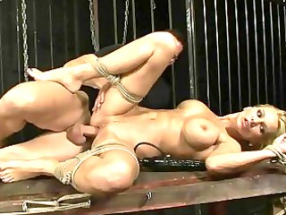 naughty lady acquires bondaged and drilled