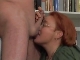 plump redhaired older