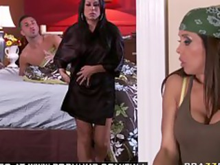 big tit lady brunette pornstar housekeeper