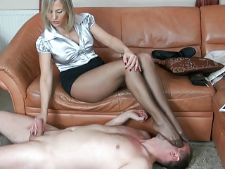 older  stockings spitting feet like and handjob 7